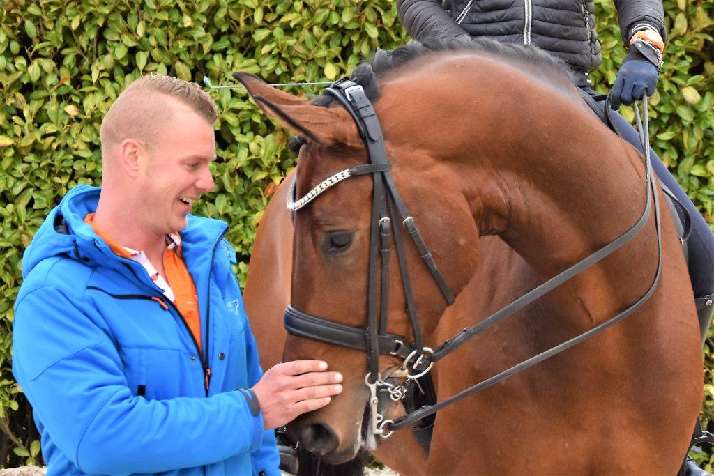 Kees Bregman met paard